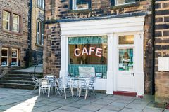 Café Holmfirth Huddersfield Yorkshire du ` s de Sid photo libre de droits
