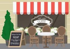 Café /illustration Lizenzfreies Stockbild