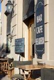 Café im Freien in San Antonio de Areco, Argentinien Stockbilder