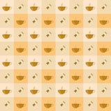 Café inconsútil con el modelo del caramelo Imagen de archivo libre de regalías