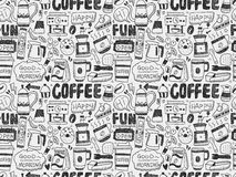 Café inconsútil del garabato Imagen de archivo