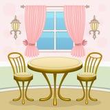 Café interior ilustração royalty free