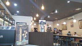 Café interno Fotografia de Stock Royalty Free