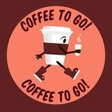 Café a ir ilustración del vector