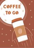 Café a ir ilustração stock