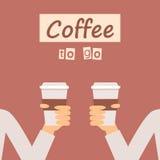 Café a ir bandera Fotos de archivo libres de regalías