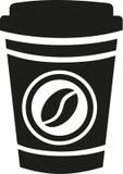 Café a ir taza ilustración del vector