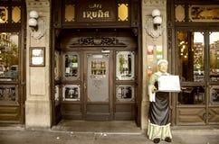 Café Iruña à Pamplona, Espagne Photographie stock libre de droits