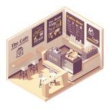 Café isométrico del vector pequeño ilustración del vector