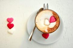 Café italiano no pequeno almoço fotografia de stock