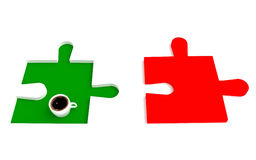 Café italien, puzzle de drapeau Photographie stock
