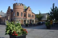 Café Jörgen in Kristinehamn Sweden. Café Jörgen in the town rncentre of rnKristinehamn Sweden Stock Photos