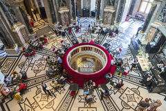 Café, Kunsthistorisches Art Museum histórico Imagem de Stock Royalty Free