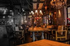 Café la veille de christmias Photo libre de droits