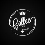Café Logo Vintage Design Background Photos libres de droits