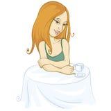 Café-Mädchen Stockfoto