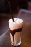 Café - macchiato del latte Imagenes de archivo