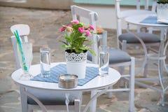 Café mediterráneo Foto de archivo libre de regalías