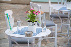 Café mediterrâneo Foto de Stock Royalty Free