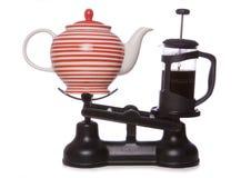 Café melhor do que o chá Imagens de Stock