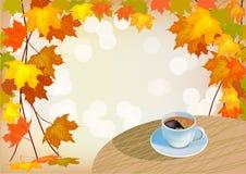 Café menú ilustración del vector