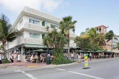 Café Miami Beach da notícia Imagem de Stock