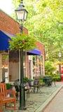 Café mit Patio im Freien Lizenzfreie Stockfotos