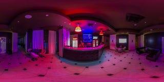 Café mit Stange im Nachtklub stockfotografie