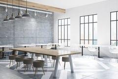 Café mit Tabellen, runde Stühle, konkret lizenzfreie abbildung