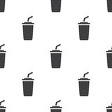Café, modèle sans couture de vecteur Image stock