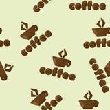 Café. modelo inconsútil Imagen de archivo