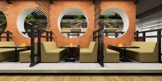 Café moderno en estilo japonés Fotografía de archivo