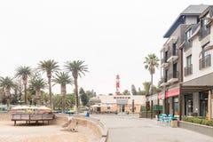 Café Molen, Museum und Leuchtturm beim Molen in Swakopmund Stockbild