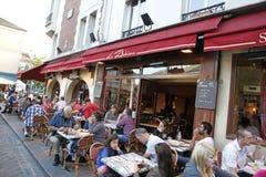 Café Montmartre, París Francia Imagenes de archivo