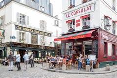 Café in Montmartre, Paris Lizenzfreies Stockfoto