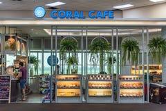 Café n d'aéroport l'aéroport international de Don Mueang Photographie stock