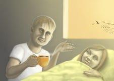 Café na cama Imagem de Stock