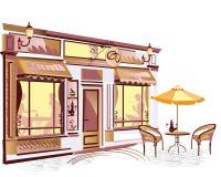 Café na cidade Fotos de Stock