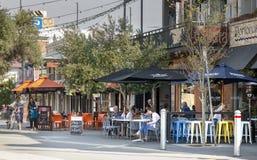 Café na cidade de West Australian de Fremantle foto de stock