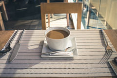 Café na tabela Foto de Stock Royalty Free