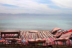 Café no beira-mar Egito, Nuweiba Fotos de Stock