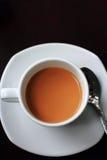 Café no copo branco imagens de stock royalty free