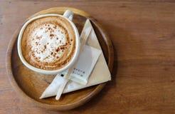 Café no copo branco Imagem de Stock