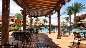 Café no hotel egípcio Foto de Stock