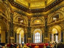 Café no museu de Kunsthistorisches ou no museu de Art History, Vienn Fotos de Stock