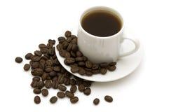 Café noir de cuvette Image stock
