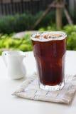 Café noir de glace, americano Photo libre de droits