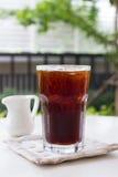 Café noir de glace, americano Images stock
