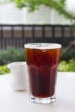 Café noir de glace, americano Photographie stock libre de droits