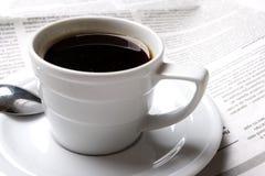 Café, noticias Foto de archivo